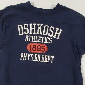 Oshkosh boy's dark blue shot sleeve tee 7x